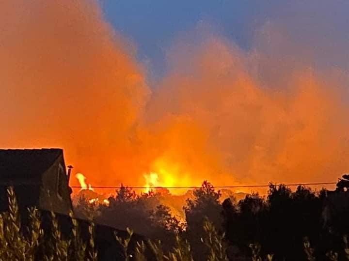 požar vošćice-podstražje, 10.09.2020, dvd komiža